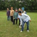 Older Refugees play Bocce