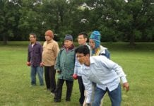 Older Refugees play Bocce