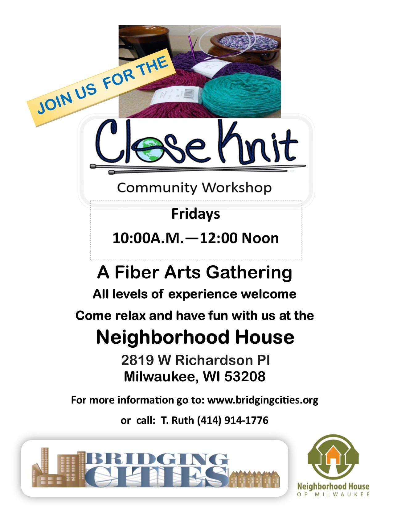 Every Friday: FREE Community Knitting from 10am-Noon - Neighborhood